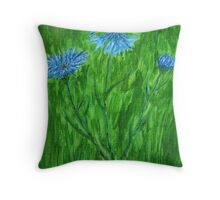 Cornflowers ~ Hope for a Cure - ALS Throw Pillow