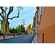 A Street in Monaco Photographic Print