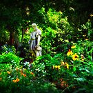 Angelo Amongst the Flowers by Lea  Weikert