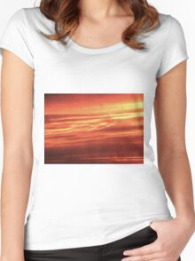 Sunrise Abstract Women's Fitted Scoop T-Shirt