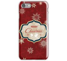 Snowflakes and Doves Christmas Card - Merry Christmas iPhone Case/Skin