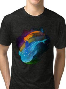 SouMomo Neon Watercolor Tri-blend T-Shirt