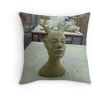 sculptured Nature Spirit Throw Pillow