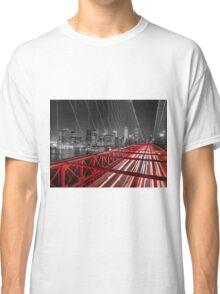 Brooklyn Bridge in evening Classic T-Shirt