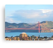 Palace Of Fine Arts and The Golden Gate Bridge Canvas Print