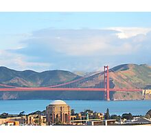 Palace Of Fine Arts and The Golden Gate Bridge Photographic Print