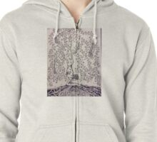 Feathered peacock pose Zipped Hoodie