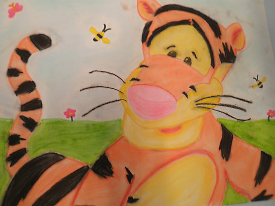 Tiggerific in chalk pastel by CynnLove