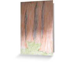 Empty Woods. Greeting Card