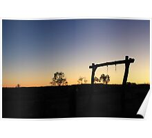 Sunset Outback Poster