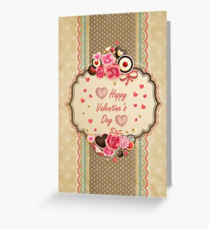 Happy Valentines Day Card Greeting Card