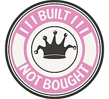 Jdm built not bought badge - pink Photographic Print