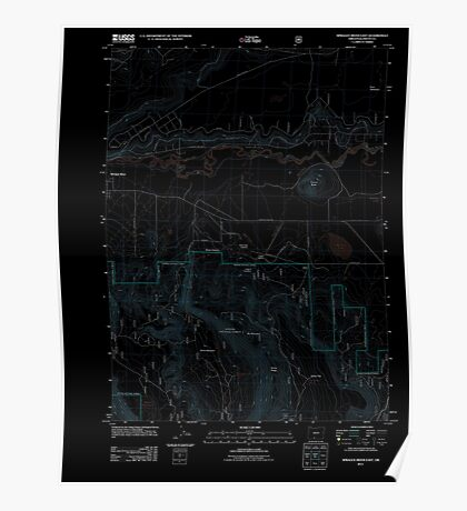 USGS Topo Map Oregon Sprague River East 20110719 TM Inverted Poster