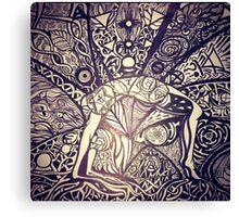 Chakrasana, just open your heart Canvas Print