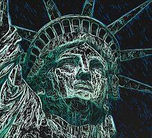 Amazing Statue of Liberty by PrintArtdotUS