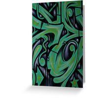 Green Fizz Greeting Card