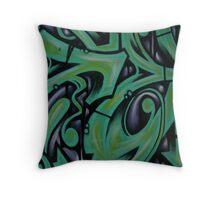 Green Fizz Throw Pillow