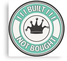 Jdm built not bought badge - minty Canvas Print