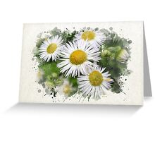 Daisy Watercolor Art Greeting Card