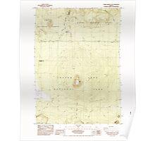 USGS Topo Map Oregon Pumice Desert East 281185 1985 24000 Poster