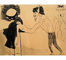 doodle after Beardsley - (Salome naughtiness and mischief _a variation_) Photographic Print