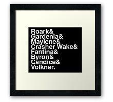 Helvetica Pokemon Sinnoh Gym Leaders Framed Print