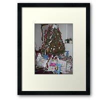 After Santa Came Framed Print