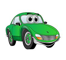 Green Sports Car Photographic Print