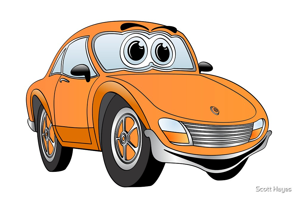 Orange Sports Car by Graphxpro