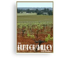 The Hunter Valley Retro Travel Poster Canvas Print