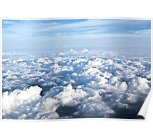 Cloudscape - View from a Plane Poster