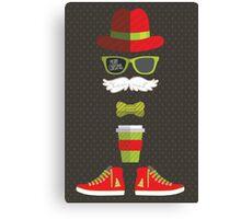 Hipster Santa Canvas Print