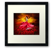 Lady Poppy Framed Print