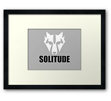 Solitude Wolf Framed Print