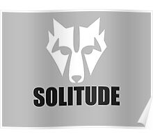 Solitude Wolf Poster