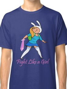Fight Like a Girl Adventure Time Classic T-Shirt
