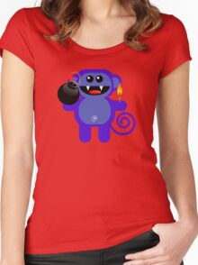 MUNKEY 4  (Cute pet has a bomb and its alight!) Women's Fitted Scoop T-Shirt
