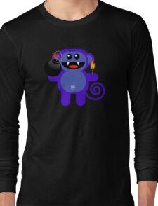 MUNKEY 4  (Cute pet has a bomb and its alight!) Long Sleeve T-Shirt
