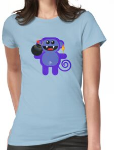 MUNKEY 4  (Cute pet has a bomb and its alight!) Womens Fitted T-Shirt