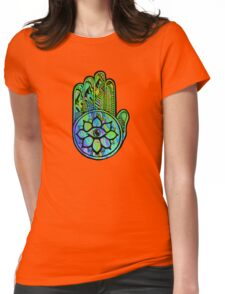 Psychedelic Magic Hand Womens Fitted T-Shirt