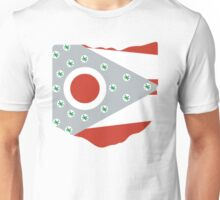 Ohio State Buckeyes - State Flag - White Unisex T-Shirt