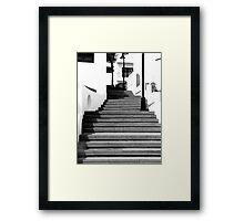 Marina Steps Framed Print