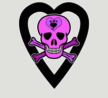 Punky Pink Skull Womens Fitted T-Shirt