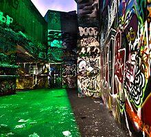 The Graffiti wall by Stephen Jay