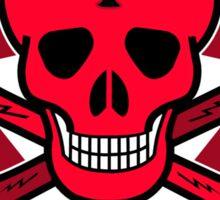 Red Punk Skull Sticker