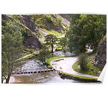 Dovedale Watercolour. Poster
