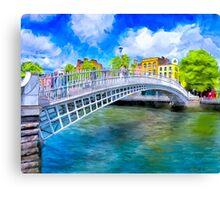The Ha'Penny Bridge - Historic Dublin Ireland Landmark Canvas Print