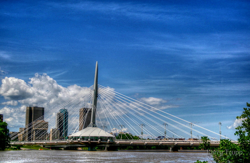 """Sals on the Bridge""..Winnipeg, Canada. by Larry Trupp"