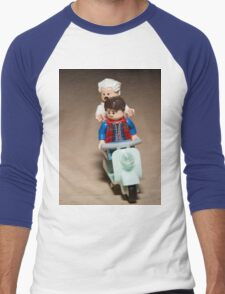 Marty and Doc Brown ride a Scooter Men's Baseball ¾ T-Shirt