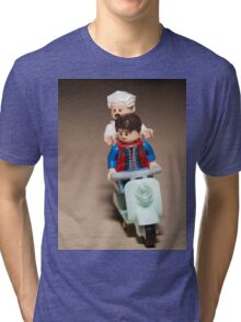 Marty and Doc Brown ride a Scooter Tri-blend T-Shirt